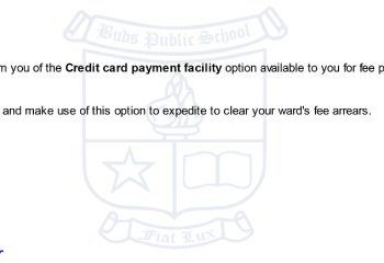 Credit card payment facility