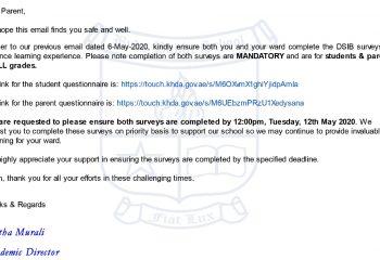 DSIB Student and Parent Questionnaire
