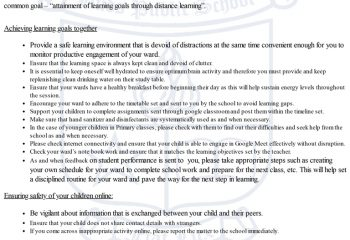 E-learning guidelines for parents