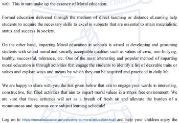 Moral Education Activity Site
