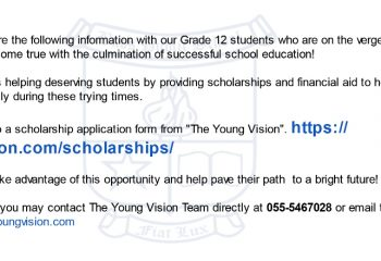 Young Vision aid to help you aim high!