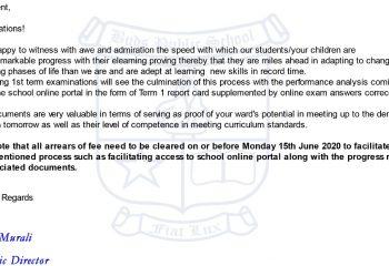Term 1 online report card