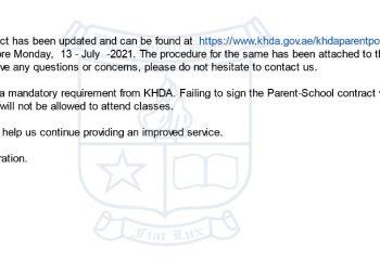 Parent - School Contract