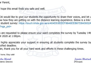 Distance learning survey students' voice