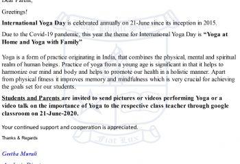 International Yoga Day-2020