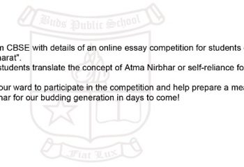 Online Essay Competition from CBSE