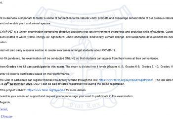 Buds Public School Mail - Green Olympiad-2020- Grades 4-12